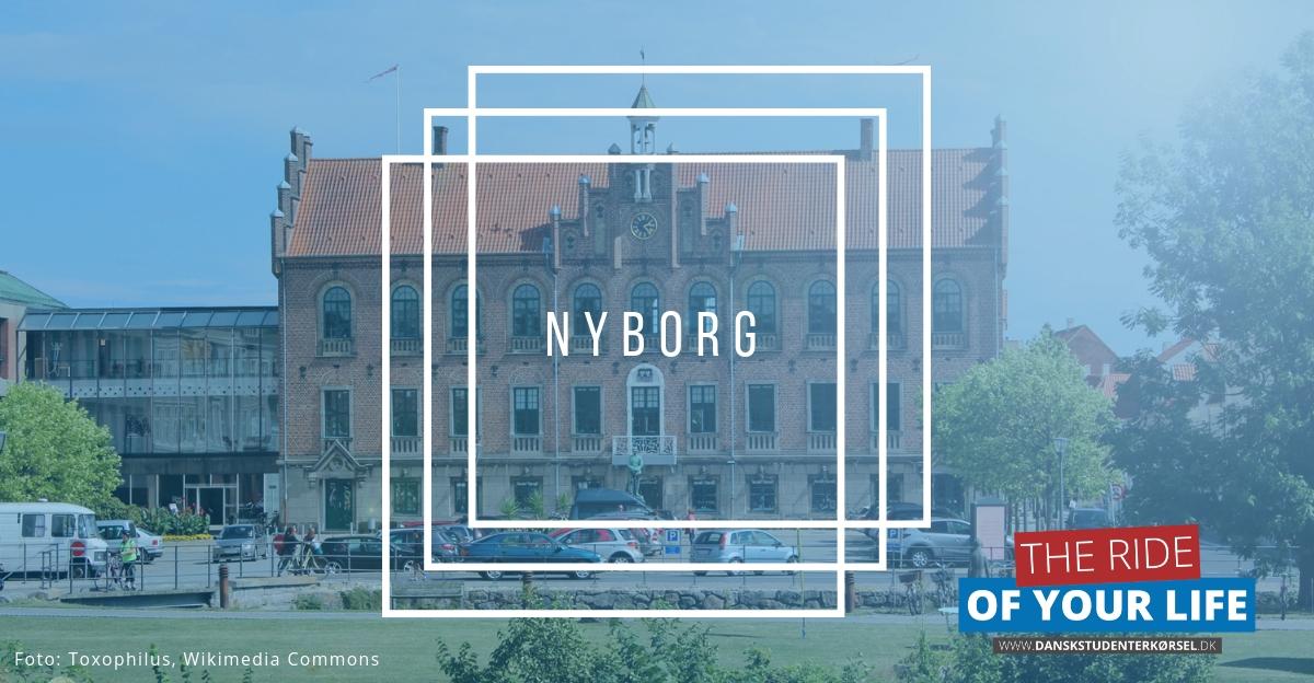 Studenterkørsel i Nyborg